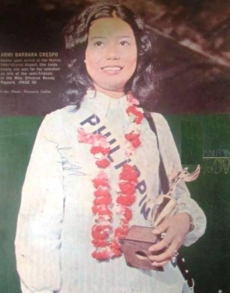 Bb Pilipinas Universe 1972: Armi Barbara Quiray Crespo (MU 72' Semifinalist) 16998210