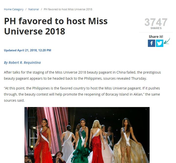 Miss Universe 2018 will be held in Bangkok, Thailand on December 16 Untitl22