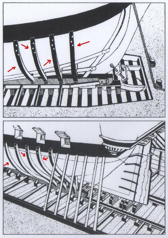Installazioni di cantiere nell'epoca della marineria velica lignea. 113