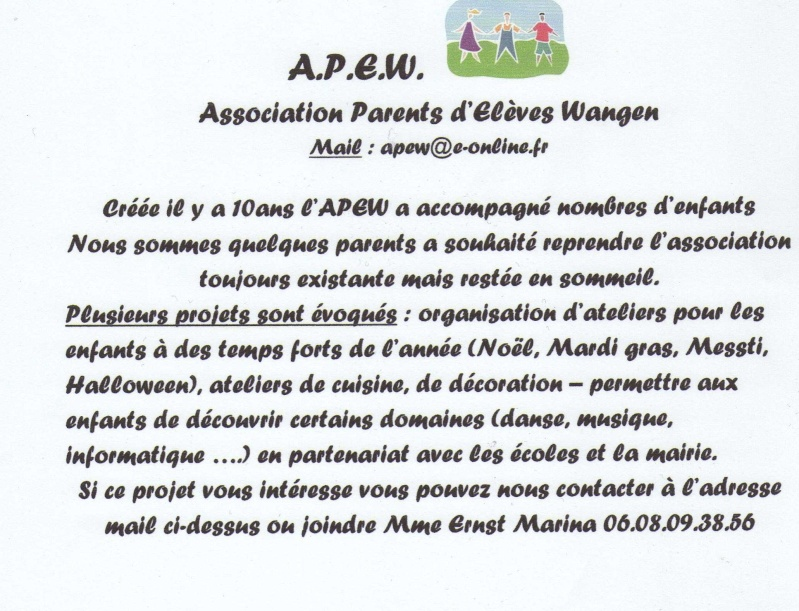 L'association des parents d'élèves : l'apew Img00212