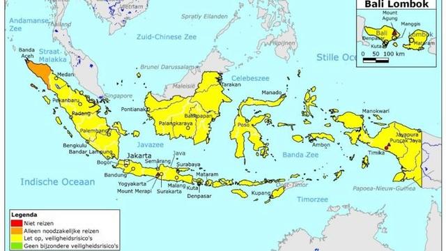 Reisadvies Indonesië aangepast na aanslagen 1106