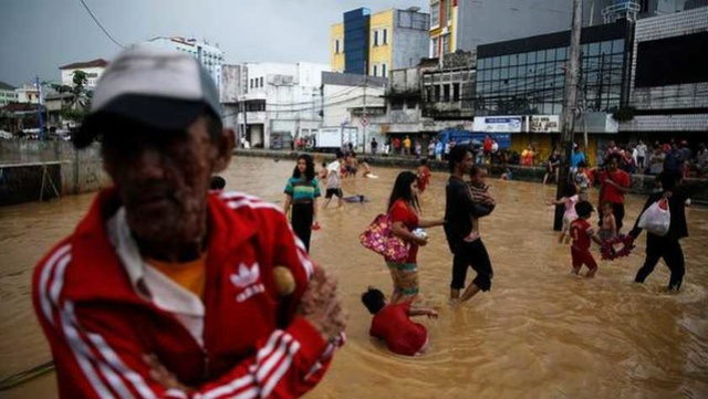 Overlast door overstromingen Jakarta 157