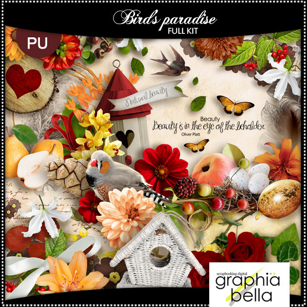 Bird's paradise (full kit) by Graphia Bella Gbe_bi18