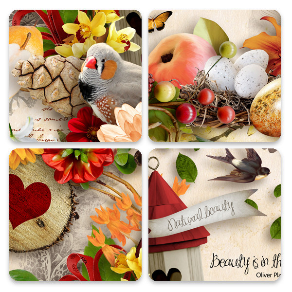 Bird's paradise (full kit) by Graphia Bella Gbe_bi20