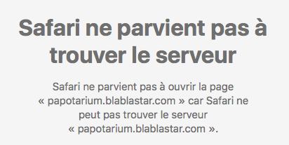 Mon forum est inaccessible / Serveur introuvable Papota10