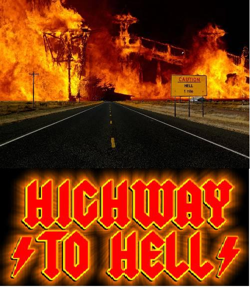 Highway To Hell Poster Graphic Design Highwa10
