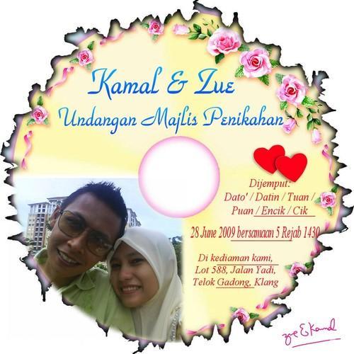 Undangan Majlis Pernikahan Zue a.k.a Ulie Kad10