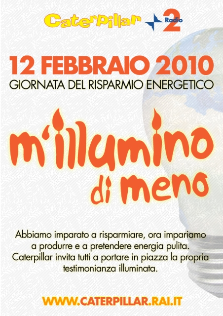 12 febbraio- M'illumino di meno Millum10