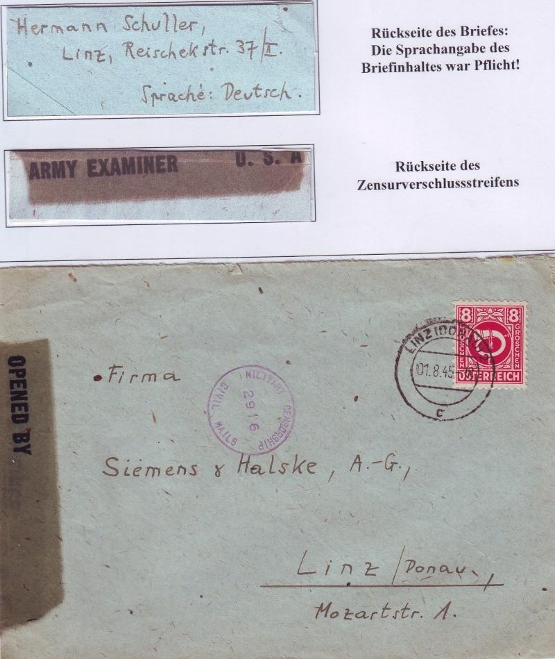 Posthornzeichnung  -  ANK 697-713  -  Belege 1945_811