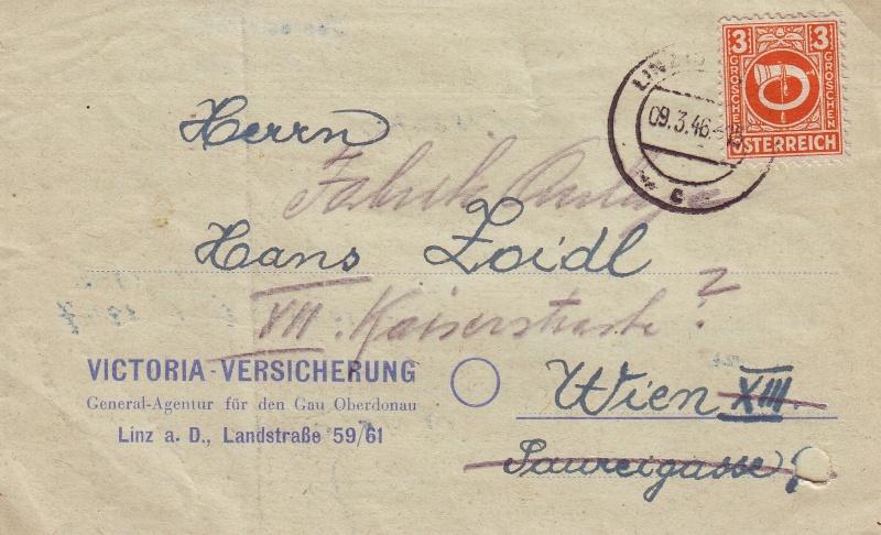 Posthornzeichnung  -  ANK 697-713  -  Belege 1945_p10