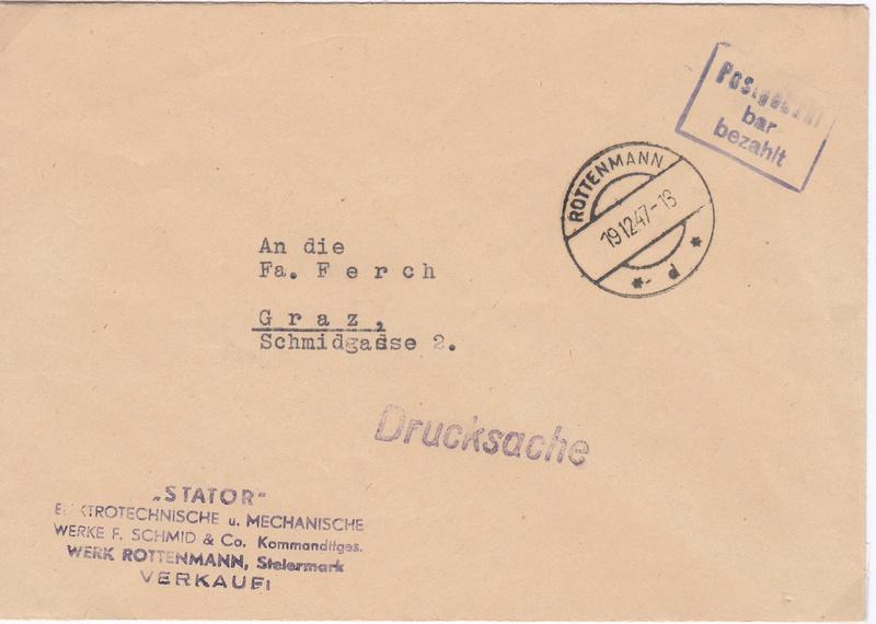 Österreich 2. Währungsreform 10.12.1947 - Belege Img113