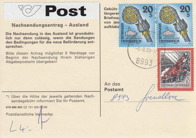 Drucksorten der Post - Nachsendungsantrag - Seite 2 Img141