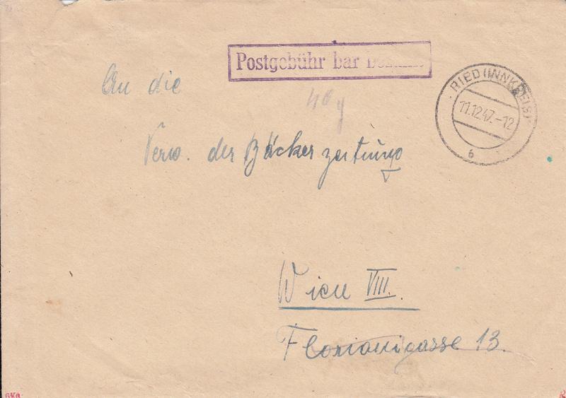 Österreich 2. Währungsreform 10.12.1947 - Belege Img22