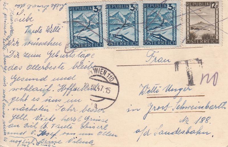 Österreich 2. Währungsreform 10.12.1947 - Belege Img26