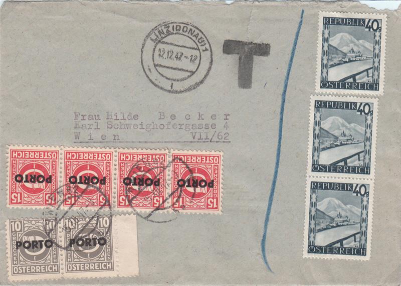 Österreich 2. Währungsreform 10.12.1947 - Belege Img38