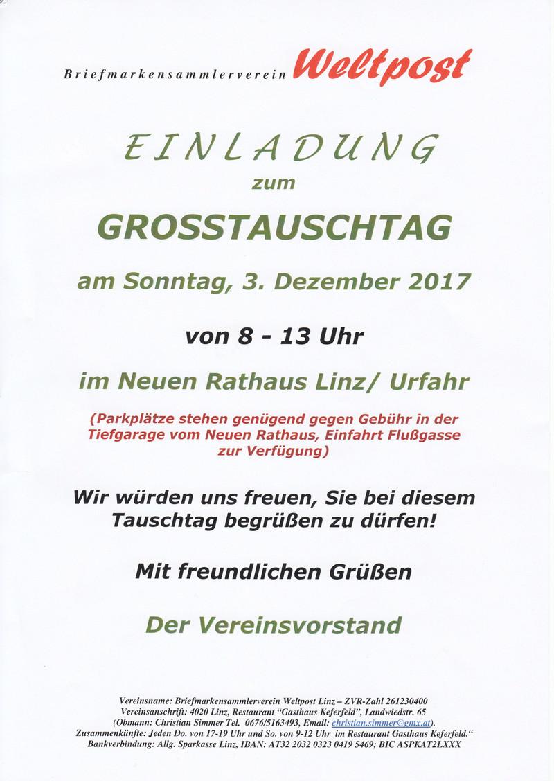 Großtauschtag in Linz/Urfahr am 03.12.2017 8 - 13 Uhr Img39