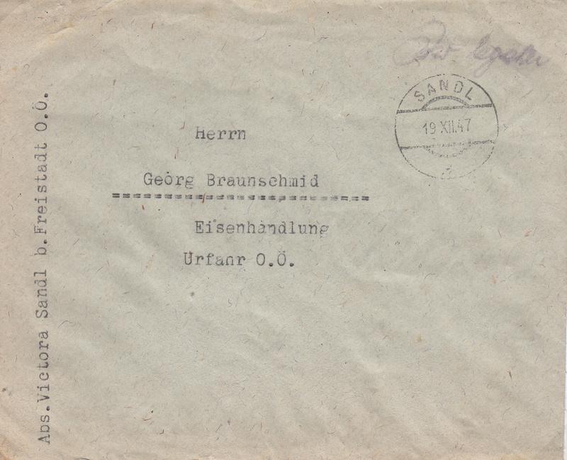 Österreich 2. Währungsreform 10.12.1947 - Belege Img54