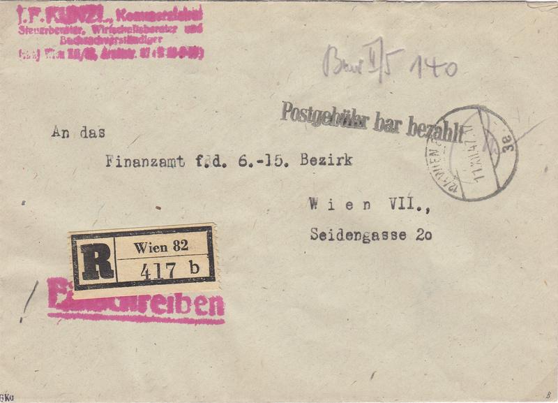 Österreich 2. Währungsreform 10.12.1947 - Belege Img91