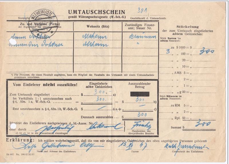 Österreich 2. Währungsreform 10.12.1947 - Belege Img_0031