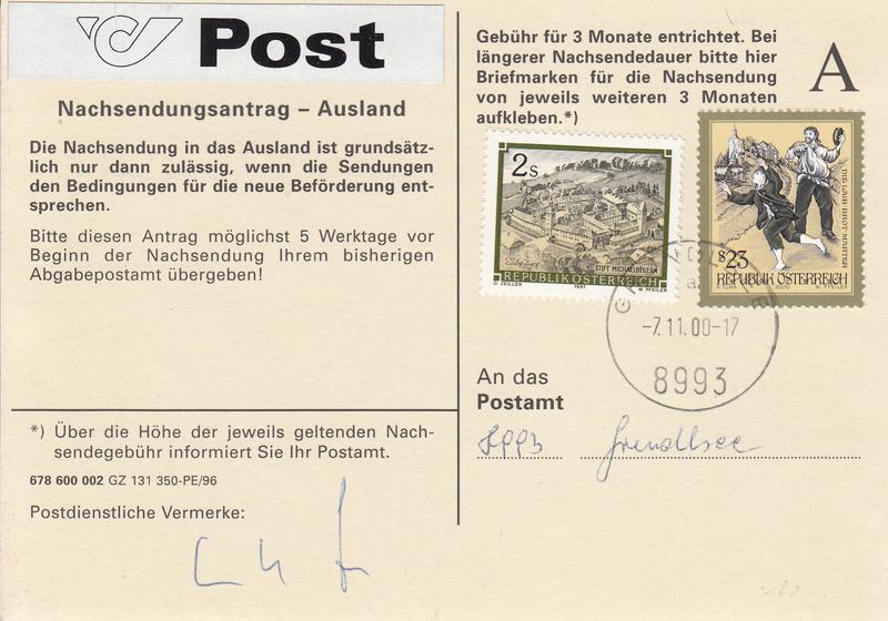 Drucksorten der Post - Nachsendungsantrag - Seite 2 Img_0158