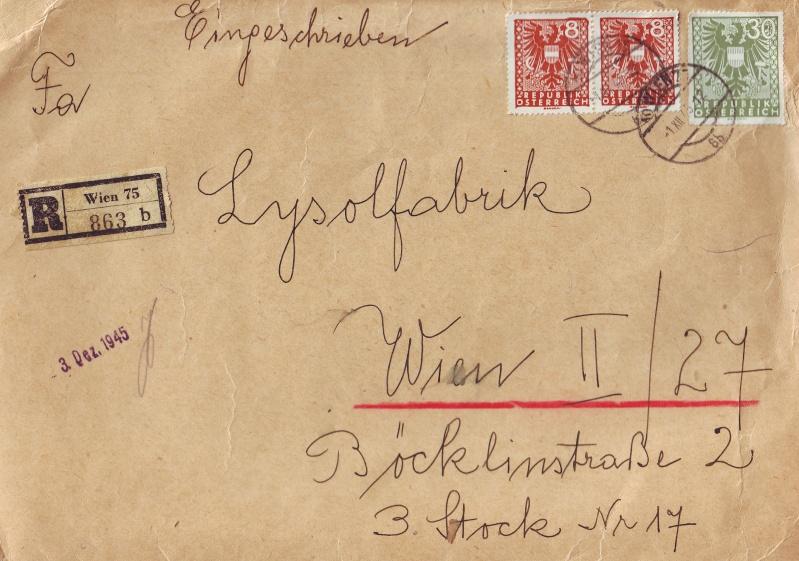 Wappenzeichnung  -  ANK 714-736 - Belege Wappen11