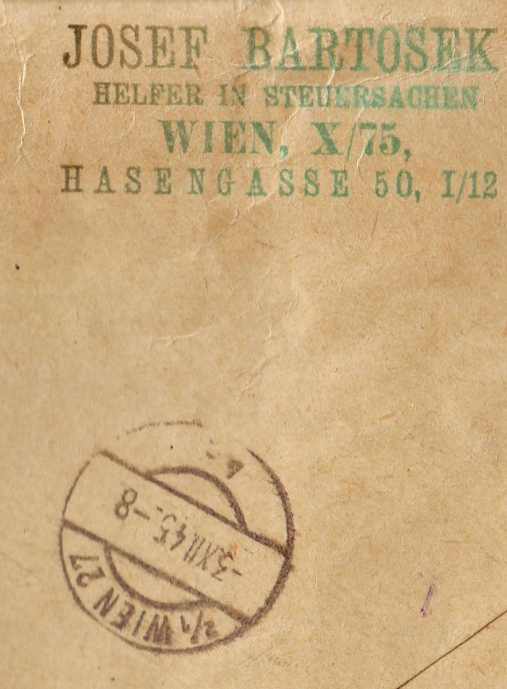 Wappenzeichnung  -  ANK 714-736 - Belege Wappen12