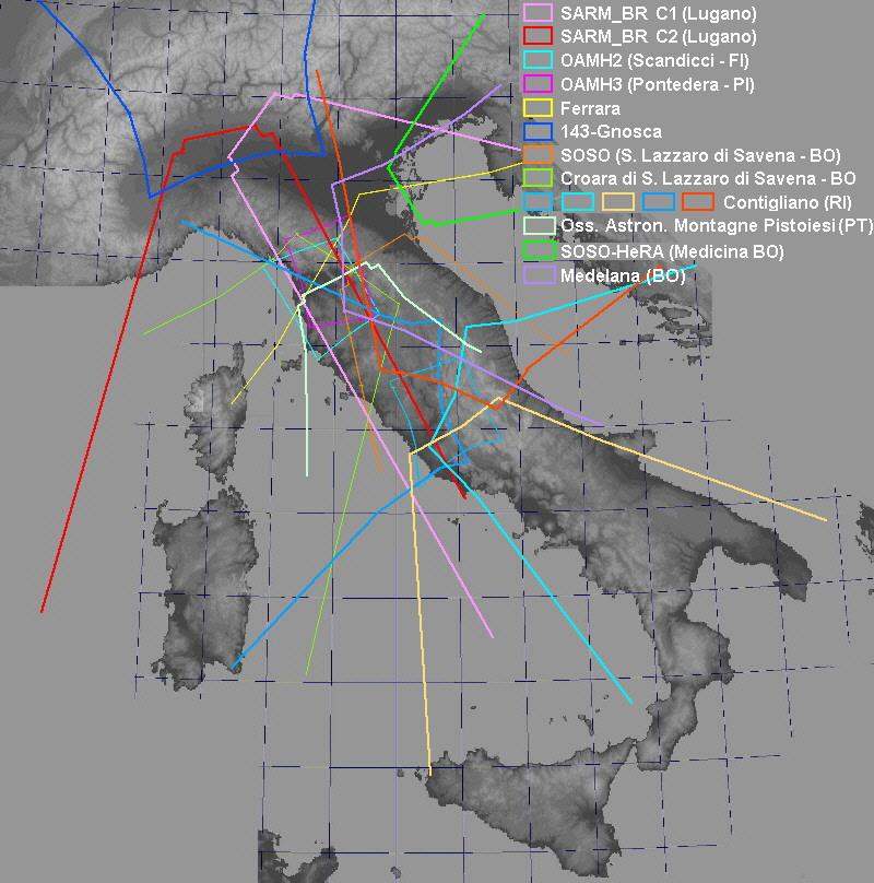 A.A.A. MAPPA dei FOV delle stazioni dell'IMTN Tutti-13