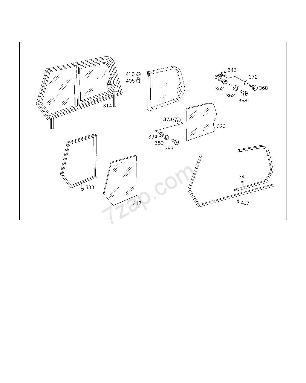 joints caoutchouc de portes torpédo et de cadre de vitre unimog 421 Unimog12
