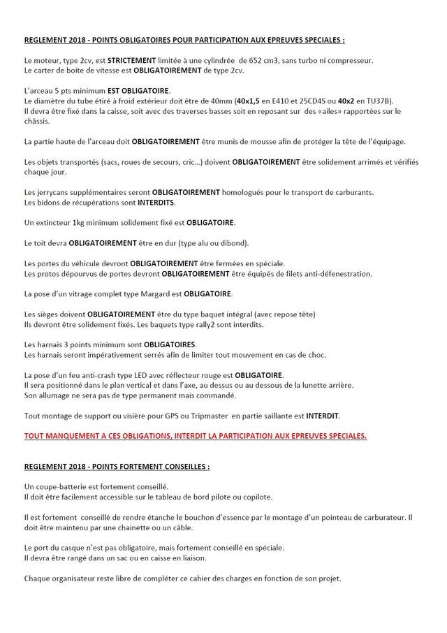 Règlement 2018 pour les raids avec spéciales Leetre12