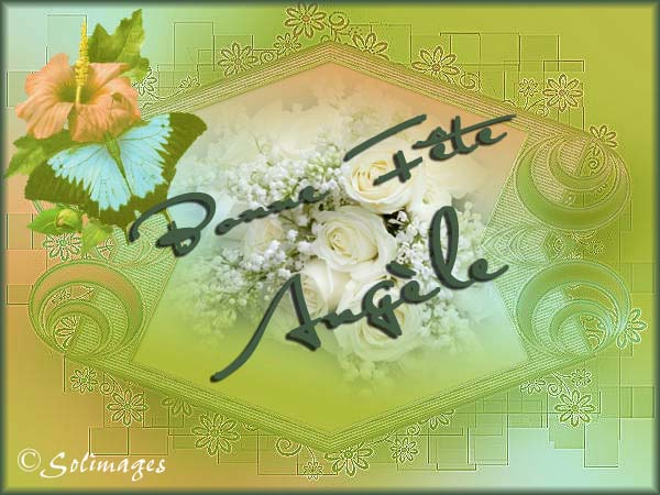 fête  à  souhaiter   - Page 6 Angele10