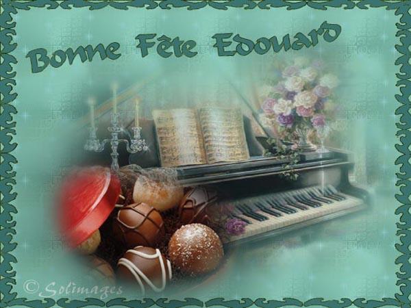 fête  à  souhaiter   - Page 4 Edouar10