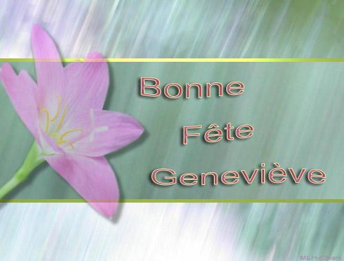 fête  à  souhaiter   - Page 4 Genevi10