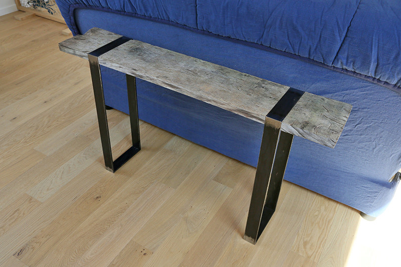 Une console bois et acier. 14_avr11