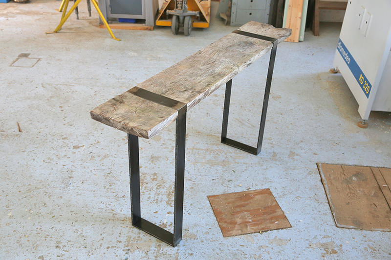 Une console bois et acier. 14_avr17