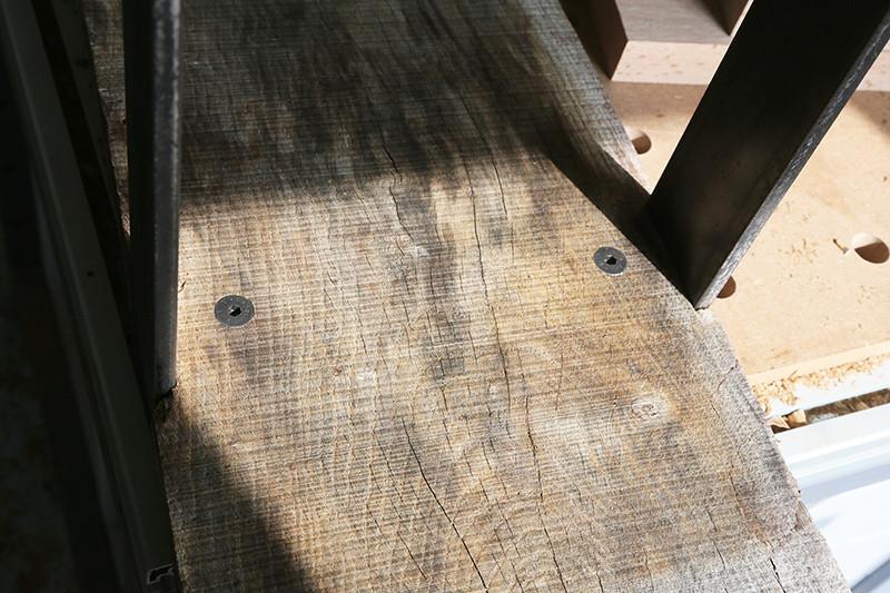 Une console bois et acier. 14_avr18