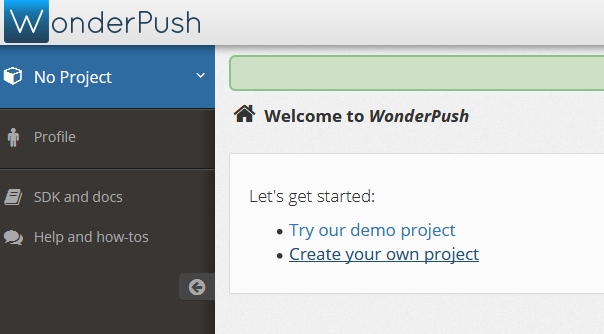 Implementar las Notificaciones Push con WonderPush Tuto_w13