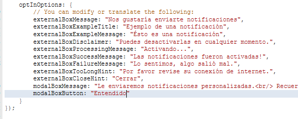 Implementar las Notificaciones Push con WonderPush Tuto_w22