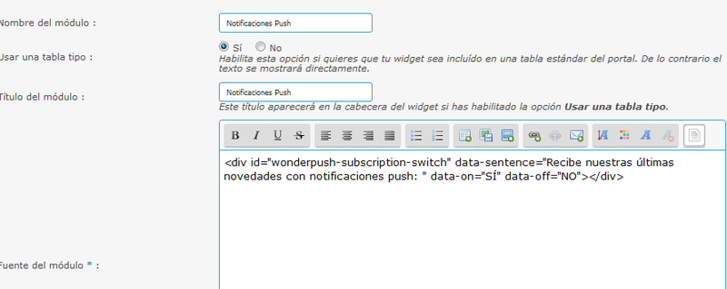 Implementar las Notificaciones Push con WonderPush Tuto_w25