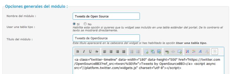 [widget] Timeline de Twitter para los foros Twitte18