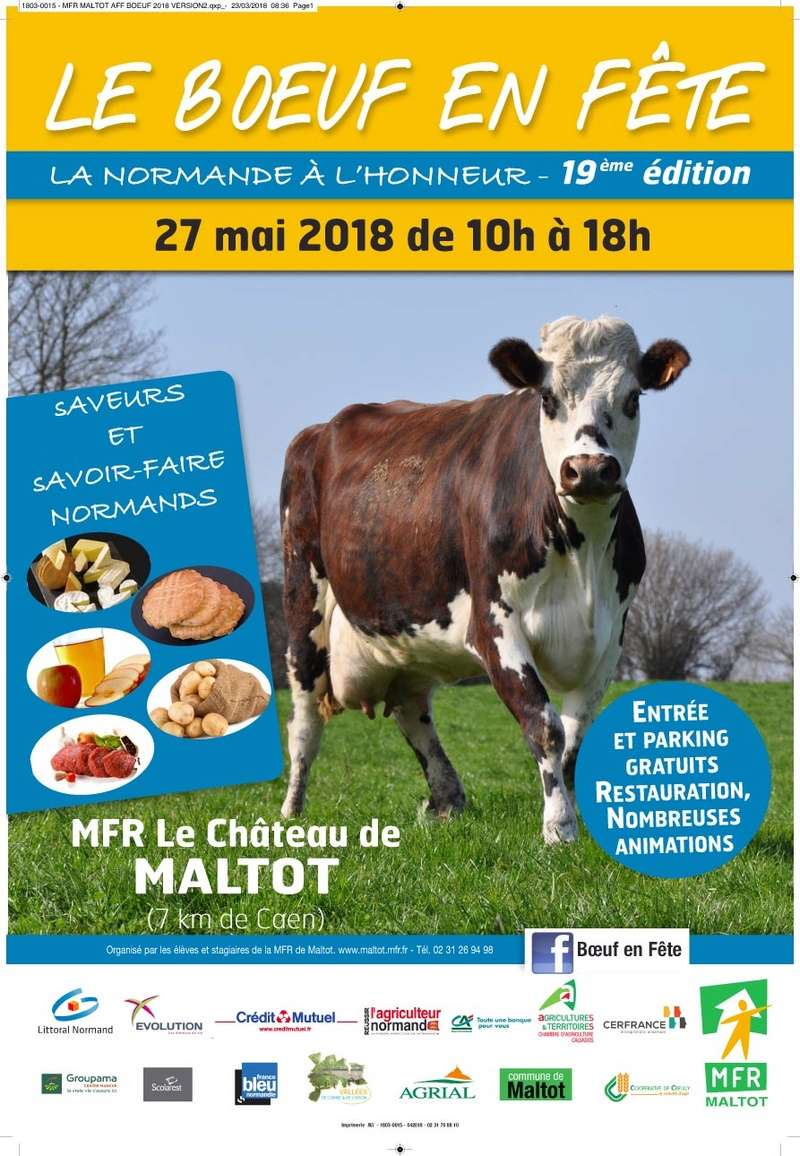 """le """"Boeuf en fête"""", 2018 à MALTOT  Affich13"""