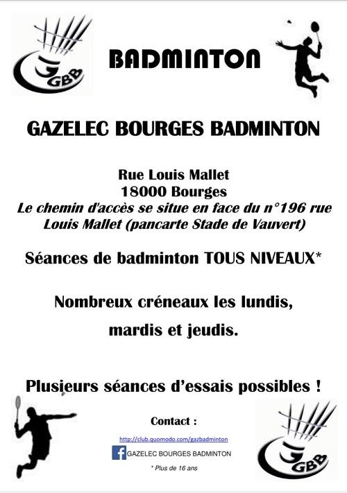 Découverte du Gazelec Badminton Bourges 001335