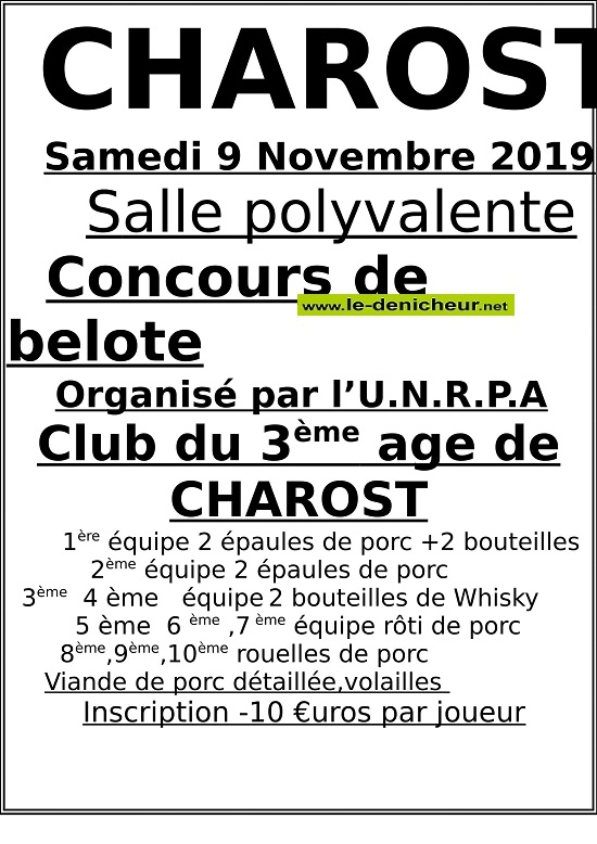 w09 - SAM 09 novembre - CHAROST - Concours de belote */ 11-09_10