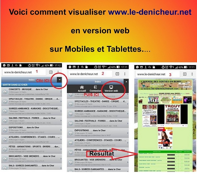 b. VERSION WEB sur mobiles et tablettes Versio22
