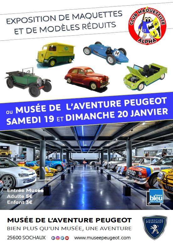 Expo maquettes au Musée de l'aventure Peugeot à Sochaux (25) les 19 et 20 janvier 2019 Affich10