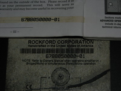 Rockford Fosgate Punch 800a4 Car Amp (Used) SOLD Img_5514