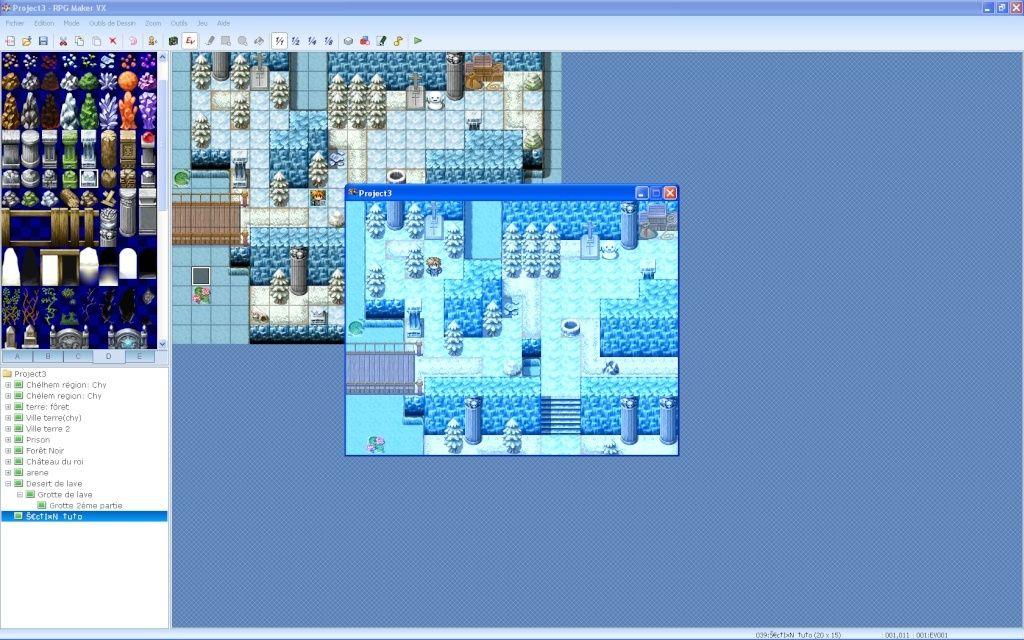 Faire une partie de grotte souterraine glacée Screen32