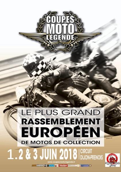 Coupes Moto Légende Dijon 2018 Affich11