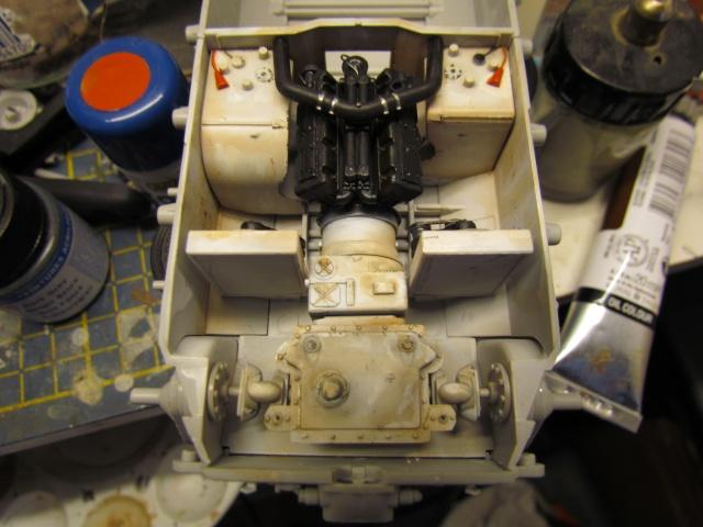 peinture -   m26 pershing alain fin de peinture de la caisse 00319