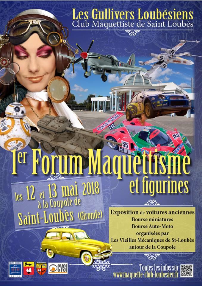 EXPO de MAQUETTES et FIGURINES 12 et 13 mai 2018 à St Loubès en Gironde Affich10