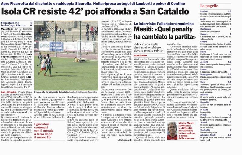 Campionato 6°giornata: SANCATALDESE - Isola Capo Rizzuto 4-0 22279410